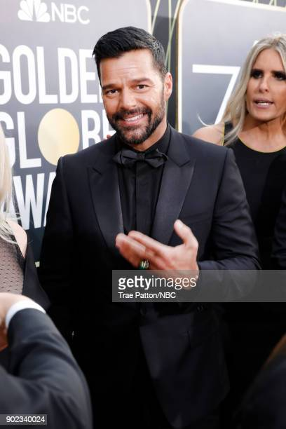 75th ANNUAL GOLDEN GLOBE AWARDS Pictured Actor Ricky Martin arrives to the 75th Annual Golden Globe Awards held at the Beverly Hilton Hotel on...