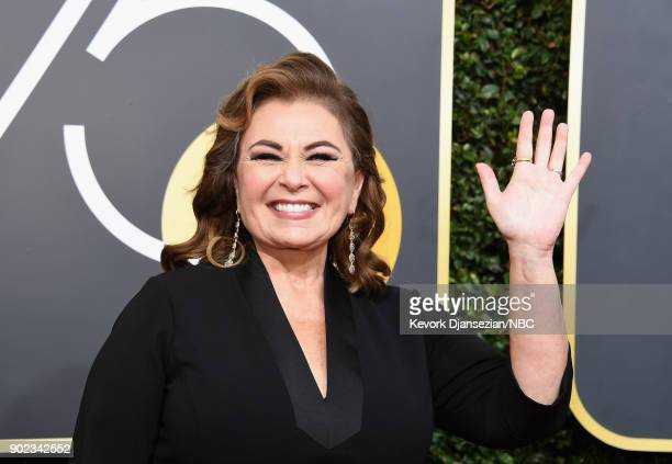 75th ANNUAL GOLDEN GLOBE AWARDS -- Pictured: Actor Roseanne Barr arrives to the 75th Annual Golden Globe Awards held at the Beverly Hilton Hotel on...