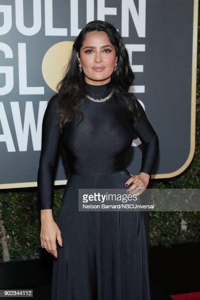 75th ANNUAL GOLDEN GLOBE AWARDS Pictured Actor Salma Hayek arrives to the 75th Annual Golden Globe Awards held at the Beverly Hilton Hotel on January...