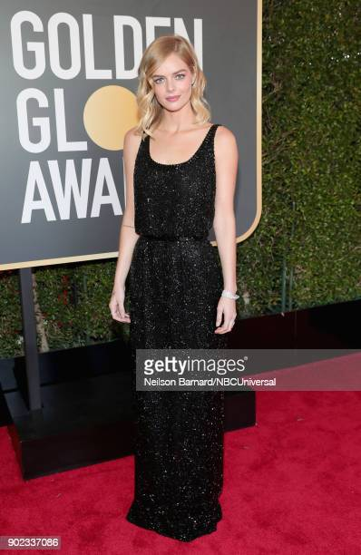 75th ANNUAL GOLDEN GLOBE AWARDS Pictured Actor Samara Weaving arrives to the 75th Annual Golden Globe Awards held at the Beverly Hilton Hotel on...