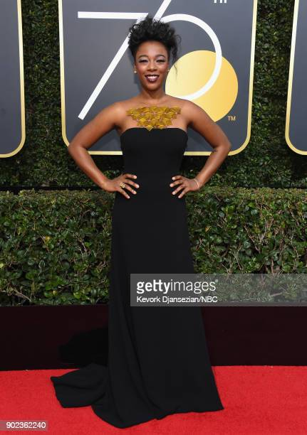 75th ANNUAL GOLDEN GLOBE AWARDS Pictured Actor Samira Wiley arrives to the 75th Annual Golden Globe Awards held at the Beverly Hilton Hotel on...