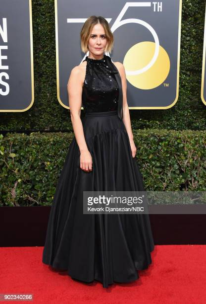 75th ANNUAL GOLDEN GLOBE AWARDS Pictured Actor Sarah Paulson arrives to the 75th Annual Golden Globe Awards held at the Beverly Hilton Hotel on...
