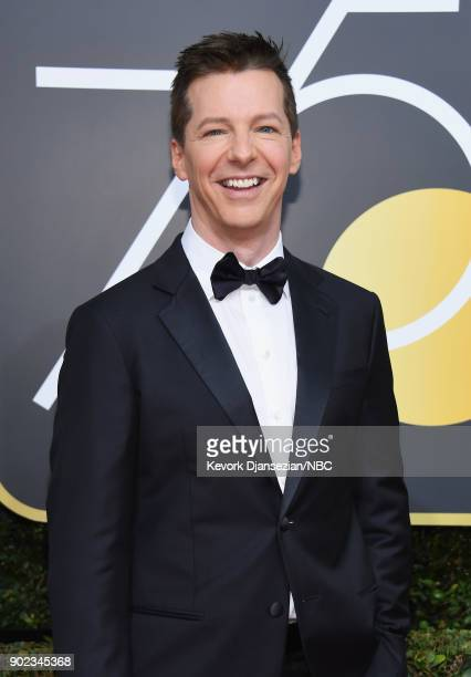 75th ANNUAL GOLDEN GLOBE AWARDS Pictured Actor Sean Hayes arrives to the 75th Annual Golden Globe Awards held at the Beverly Hilton Hotel on January...