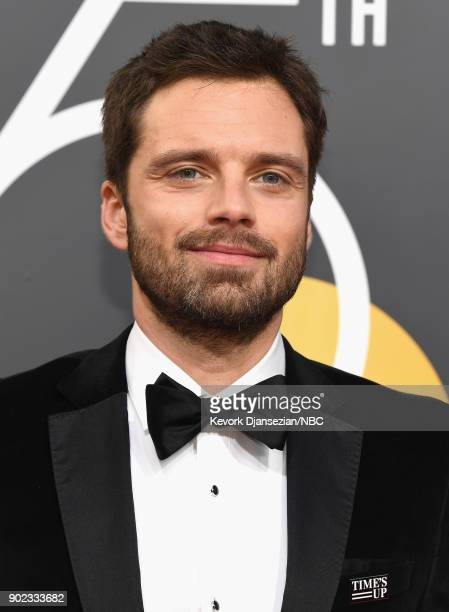 75th ANNUAL GOLDEN GLOBE AWARDS Pictured Actor Sebastian Stan arrives to the 75th Annual Golden Globe Awards held at the Beverly Hilton Hotel on...