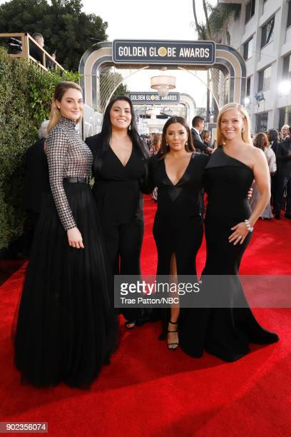 75th ANNUAL GOLDEN GLOBE AWARDS Pictured Actor Shailene Woodley activist Calina Lawrence and actors Eva Longoria and Reese Witherspoon arrive to the...