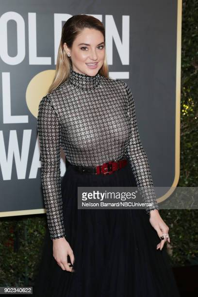 75th ANNUAL GOLDEN GLOBE AWARDS Pictured Actor Shailene Woodley arrives to the 75th Annual Golden Globe Awards held at the Beverly Hilton Hotel on...