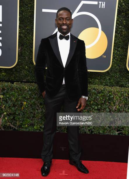 75th ANNUAL GOLDEN GLOBE AWARDS Pictured Actor Sterling K Brown arrives to the 75th Annual Golden Globe Awards held at the Beverly Hilton Hotel on...