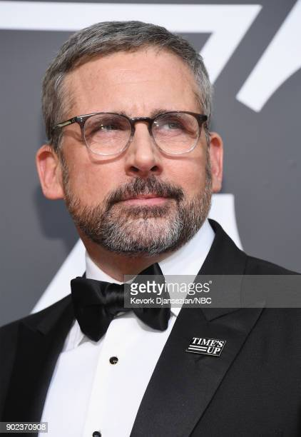 75th ANNUAL GOLDEN GLOBE AWARDS Pictured Actor Steve Carell arrives to the 75th Annual Golden Globe Awards held at the Beverly Hilton Hotel on...