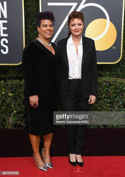 75th ANNUAL GOLDEN GLOBE AWARDS Pictured Actor Susan Sarandon arrives to the 75th Annual Golden Globe Awards held at the Beverly Hilton Hotel on...