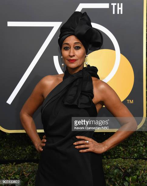 75th ANNUAL GOLDEN GLOBE AWARDS -- Pictured: Actor Tracee Ellis Ross arrives to the 75th Annual Golden Globe Awards held at the Beverly Hilton Hotel...