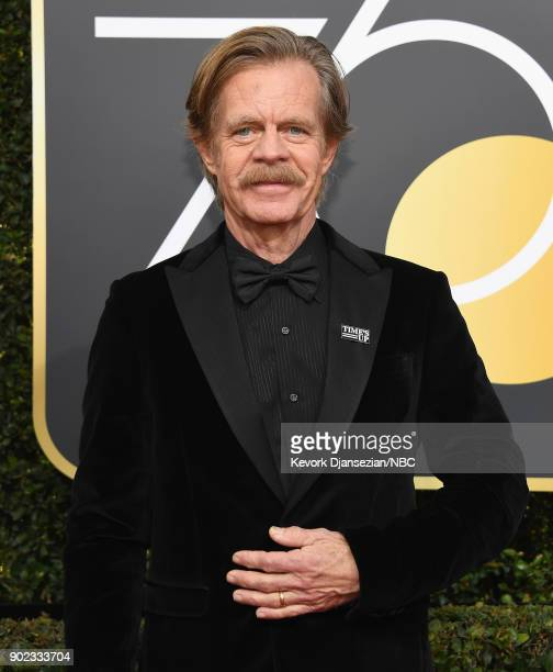 75th ANNUAL GOLDEN GLOBE AWARDS Pictured Actor William H Macy arrives to the 75th Annual Golden Globe Awards held at the Beverly Hilton Hotel on...