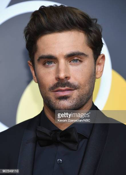 75th ANNUAL GOLDEN GLOBE AWARDS -- Pictured: Actor Zac Efron arrives to the 75th Annual Golden Globe Awards held at the Beverly Hilton Hotel on...