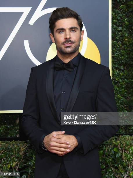75th ANNUAL GOLDEN GLOBE AWARDS Pictured Actor Zac Efron arrives to the 75th Annual Golden Globe Awards held at the Beverly Hilton Hotel on January 7...