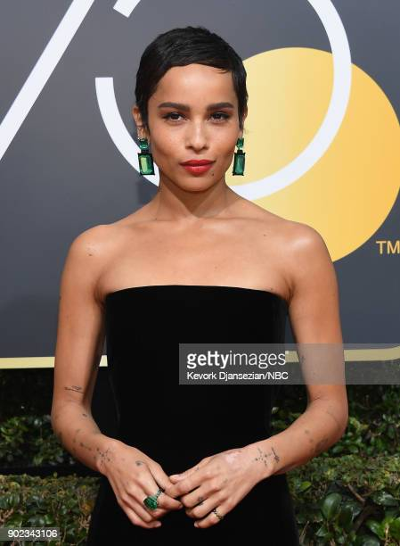 75th ANNUAL GOLDEN GLOBE AWARDS Pictured Actor Zoë Kravitz arrives to the 75th Annual Golden Globe Awards held at the Beverly Hilton Hotel on January...