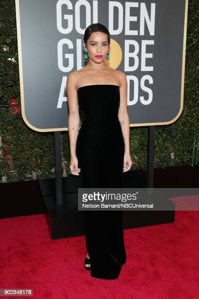 75th ANNUAL GOLDEN GLOBE AWARDS Pictured Actor Zoe Kravitz arrives to the 75th Annual Golden Globe Awards held at the Beverly Hilton Hotel on January...