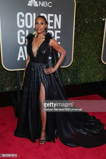 75th ANNUAL GOLDEN GLOBE AWARDS Pictured Actor/producer Issa Rae arrives to the 75th Annual Golden Globe Awards held at the Beverly Hilton Hotel on...