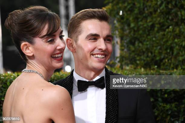 75th ANNUAL GOLDEN GLOBE AWARDS Pictured Actors Allison Brie and Dave Franco arrive to the 75th Annual Golden Globe Awards held at the Beverly Hilton...