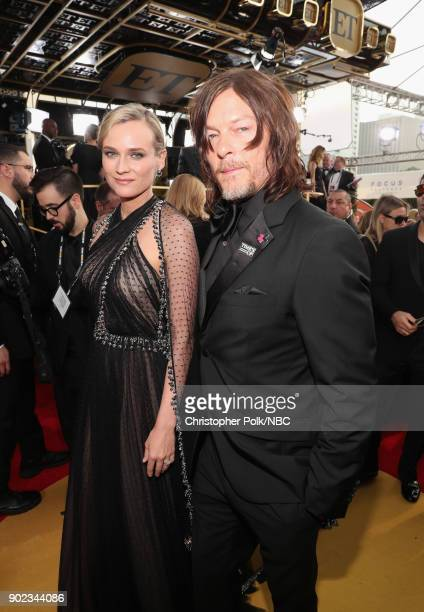 75th ANNUAL GOLDEN GLOBE AWARDS Pictured Actors Diane Kruger and Norman Reedus arrive to the 75th Annual Golden Globe Awards held at the Beverly...