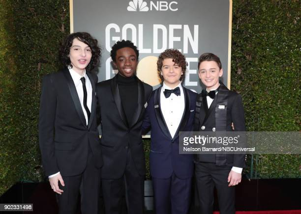75th ANNUAL GOLDEN GLOBE AWARDS Pictured Actors Finn Wolfhard Caleb McLaughlin Gaten Matarazzo and Noah Schnapp arrive to the 75th Annual Golden...