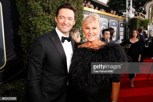 75th ANNUAL GOLDEN GLOBE AWARDS Pictured Actors Hugh Jackman and Deborralee Furness arrive to the 75th Annual Golden Globe Awards held at the Beverly...
