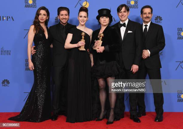 75th ANNUAL GOLDEN GLOBE AWARDS Pictured Actors Marin Hinkle Michael Zegen Rachel Brosnahan fillmmakers Amy ShermanPalladino Daniel Palladino and...