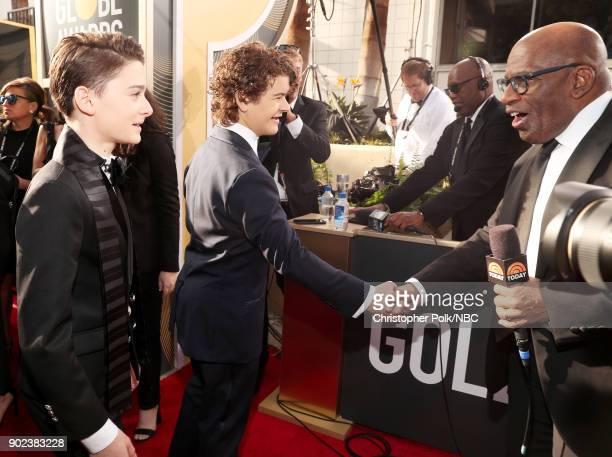 75th ANNUAL GOLDEN GLOBE AWARDS Pictured Actors Noah Schnapp and Gaten Matarazzo arrive to the 75th Annual Golden Globe Awards held at the Beverly...