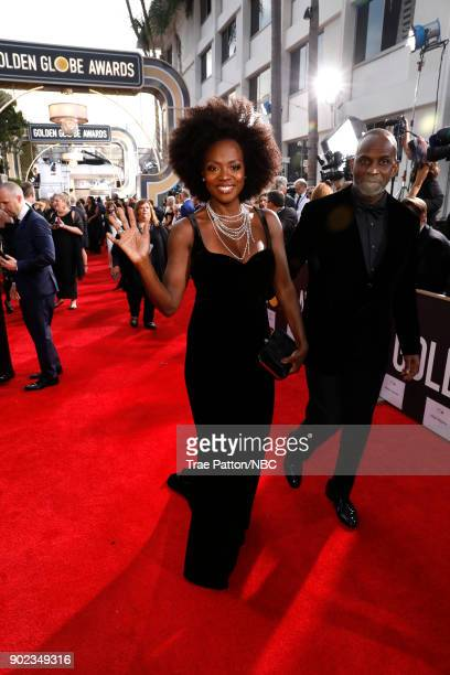 75th ANNUAL GOLDEN GLOBE AWARDS Pictured Actors Viola Davis and Julius Tennon arrive to the 75th Annual Golden Globe Awards held at the Beverly...