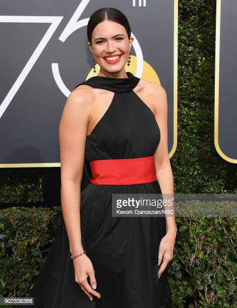 75th ANNUAL GOLDEN GLOBE AWARDS Pictured Actor/singer Mandy Moore arrives to the 75th Annual Golden Globe Awards held at the Beverly Hilton Hotel on...
