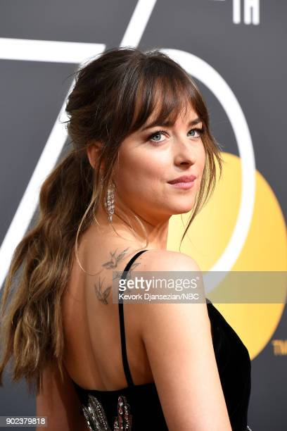 75th ANNUAL GOLDEN GLOBE AWARDS Pictured Actror Dakota Johnson arrives to the 75th Annual Golden Globe Awards held at the Beverly Hilton Hotel on...