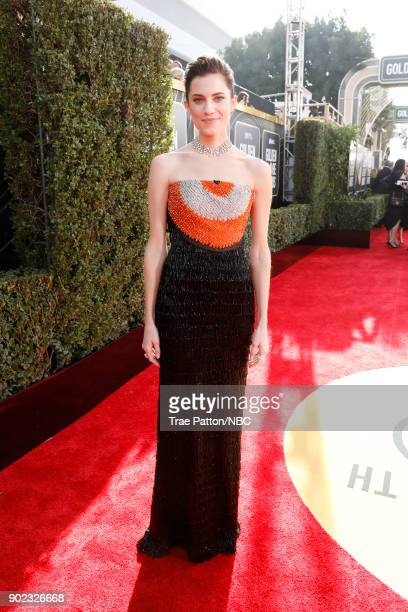 75th ANNUAL GOLDEN GLOBE AWARDS Pictured Allison Williams arrives to the 75th Annual Golden Globe Awards held at the Beverly Hilton Hotel on January...