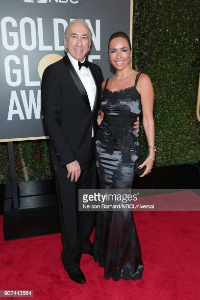 75th ANNUAL GOLDEN GLOBE AWARDS Pictured CEO of MGM Gary Barber and Nadine Barber arrive to the 75th Annual Golden Globe Awards held at the Beverly...