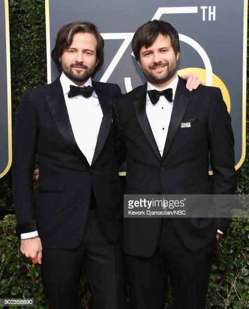 75th ANNUAL GOLDEN GLOBE AWARDS Pictured Direcots Ross Duffer and Matt Duffer arrive to the 75th Annual Golden Globe Awards held at the Beverly...