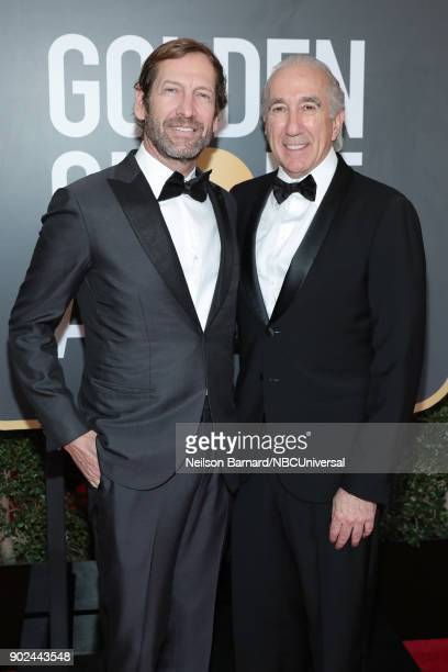 75th ANNUAL GOLDEN GLOBE AWARDS Pictured Director at MGM Holdings Inc Kevin Ulrich and CEO of MGM Gary Barber arrive to the 75th Annual Golden Globe...