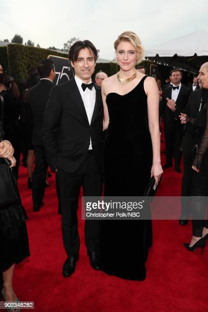 75th ANNUAL GOLDEN GLOBE AWARDS Pictured Director Noah Baumbach and actor Greta Gerwig arrive to the 75th Annual Golden Globe Awards held at the...