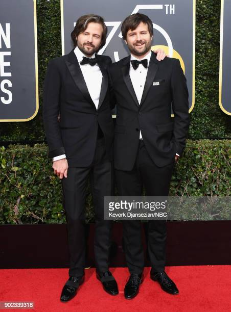 75th ANNUAL GOLDEN GLOBE AWARDS Pictured Directors Ross Duffer and Matt Duffer arrive to the 75th Annual Golden Globe Awards held at the Beverly...