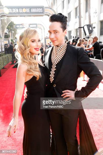 75th ANNUAL GOLDEN GLOBE AWARDS Pictured Figure Skaters Tara Lipinski and Johnnhy Weir arrive to the 75th Annual Golden Globe Awards held at the...