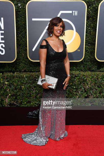 75th ANNUAL GOLDEN GLOBE AWARDS Pictured Gayle King arrives to the 75th Annual Golden Globe Awards held at the Beverly Hilton Hotel on January 7 2018