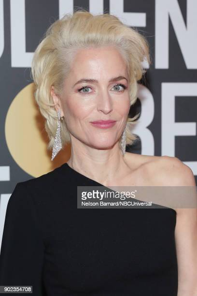 75th ANNUAL GOLDEN GLOBE AWARDS Pictured Gillian Anderson arrives to the 75th Annual Golden Globe Awards held at the Beverly Hilton Hotel on January...