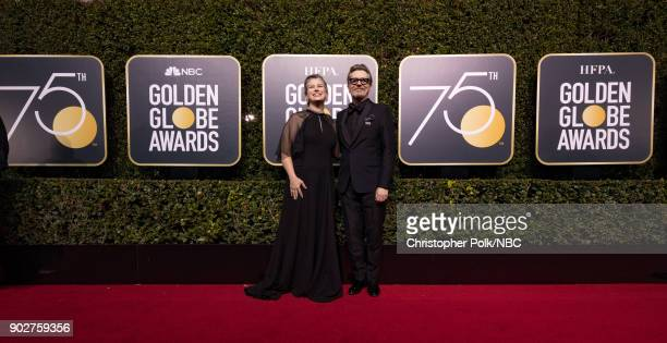 75th ANNUAL GOLDEN GLOBE AWARDS Pictured Gisele Schmidt and actor Gary Oldman arrive to the 75th Annual Golden Globe Awards held at the Beverly...