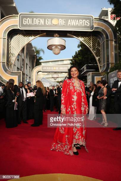 75th ANNUAL GOLDEN GLOBE AWARDS Pictured HFPA President Meher Tatna arrives to the 75th Annual Golden Globe Awards held at the Beverly Hilton Hotel...