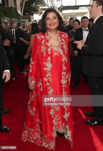 75th ANNUAL GOLDEN GLOBE AWARDS Pictured Hollywood Foreign Press Association president Meher Tatna arrives to the 75th Annual Golden Globe Awards...
