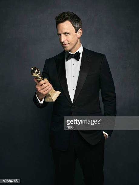 AWARDS 75th Annual Golden Globe Awards Pictured Host Seth Meyers