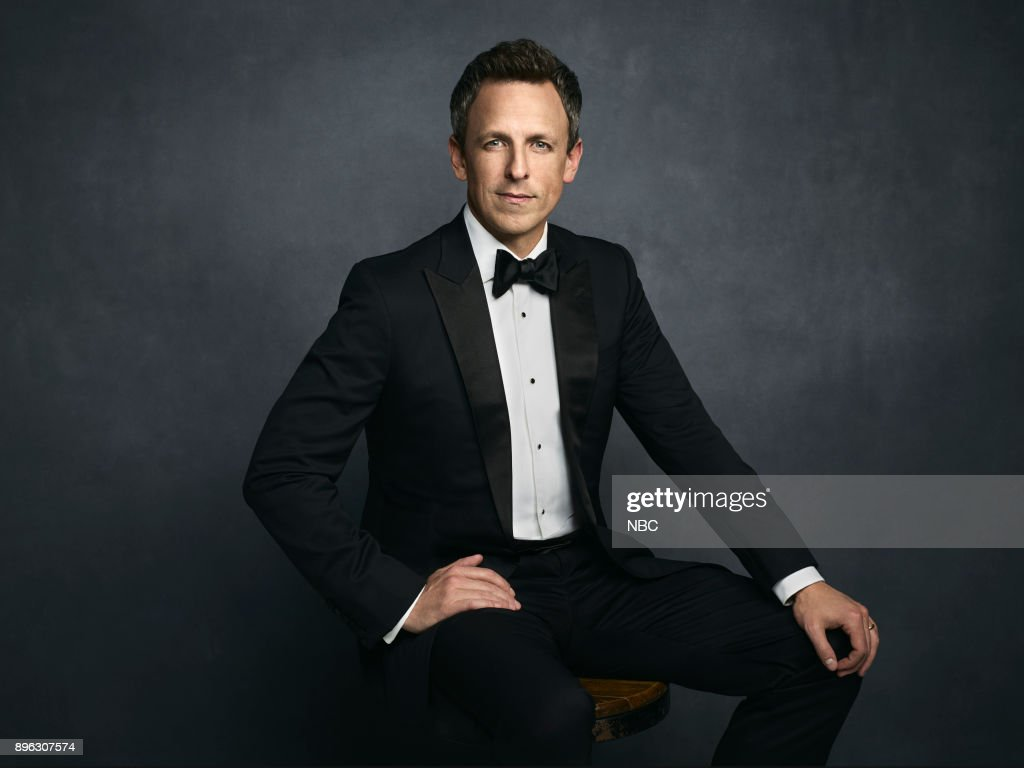 AWARDS -- 75th Annual Golden Globe Awards -- Pictured: Host Seth Meyers --