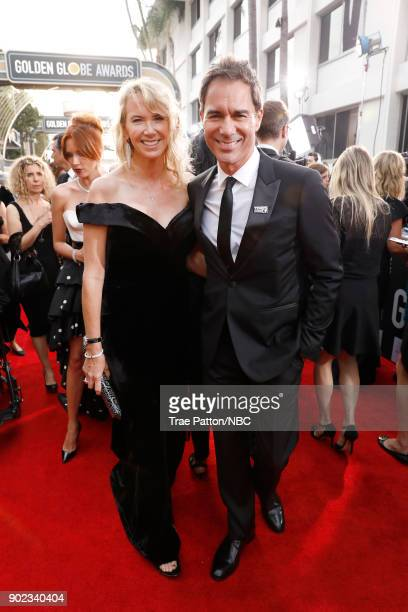75th ANNUAL GOLDEN GLOBE AWARDS Pictured Janet Holden and actor Eric McCormack arrive to the 75th Annual Golden Globe Awards held at the Beverly...