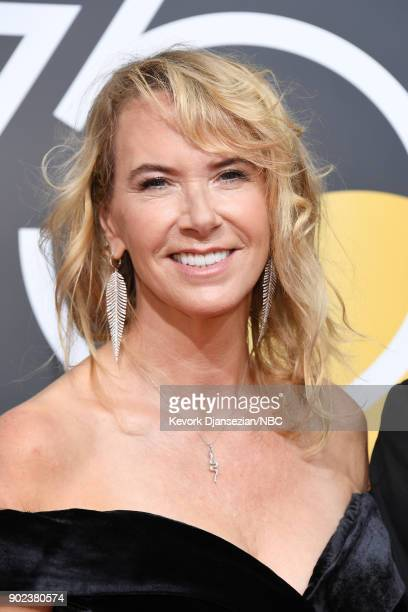 75th ANNUAL GOLDEN GLOBE AWARDS Pictured Janet Holden arrives to the 75th Annual Golden Globe Awards held at the Beverly Hilton Hotel on January 7...