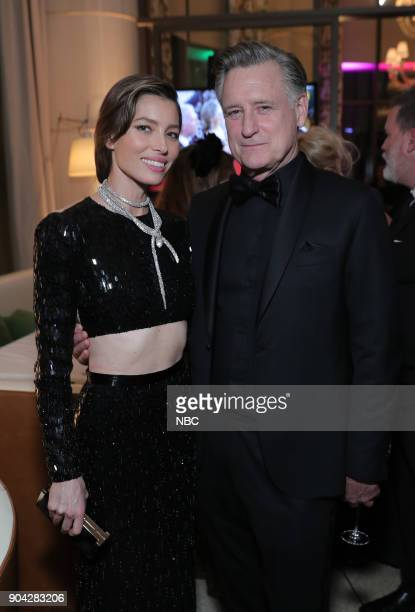 75th ANNUAL GOLDEN GLOBE AWARDS Pictured Jessica Biel Bill Pullman 'The Sinner' at NBC and USA Network's PostGolden Globe Awards Party held at...