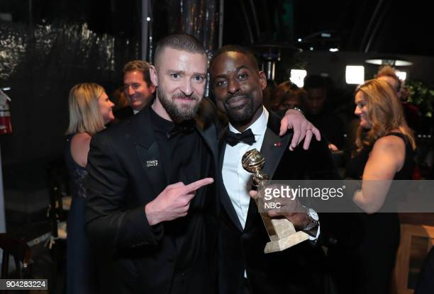 75th ANNUAL GOLDEN GLOBE AWARDS Pictured Justin Timberlake Sterling K Brown 'This Is Us' at NBC and USA Network's PostGolden Globe Awards Party held...