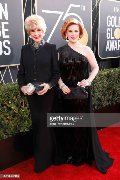 75th ANNUAL GOLDEN GLOBE AWARDS Pictured Karen Sharpe and Kat Kramer arrive to the 75th Annual Golden Globe Awards held at the Beverly Hilton Hotel...