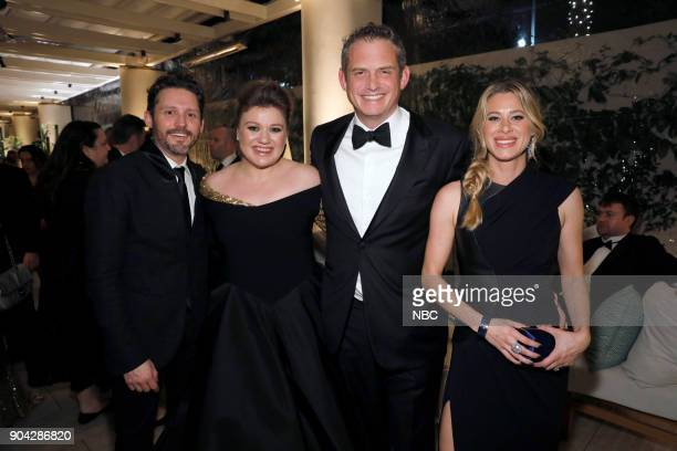 75th ANNUAL GOLDEN GLOBE AWARDS Pictured Kelly Clarkson Paul Telegdy President Alternative and Reality Group NBC Entertainment with wife Lauren at...