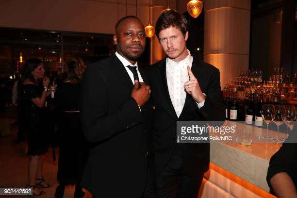 75th ANNUAL GOLDEN GLOBE AWARDS Pictured Malcolm Barrett and Anders Holm enjoy NBC and USA Network's postGolden Globe Awards party Sunday January 7...